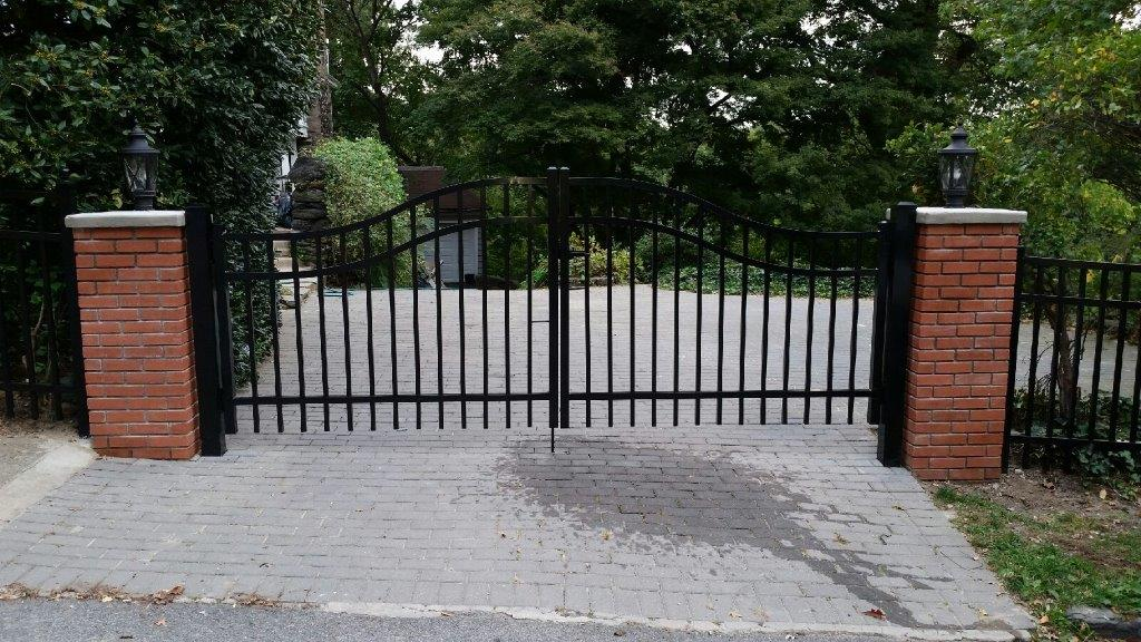aluminum double gates