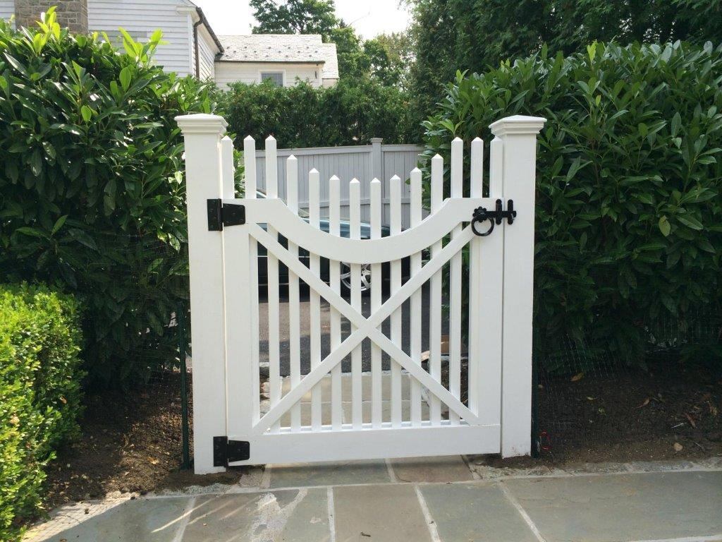 White Wooden Fence Gate