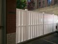 white vinyl fences