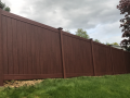 wood grain vinyl fence