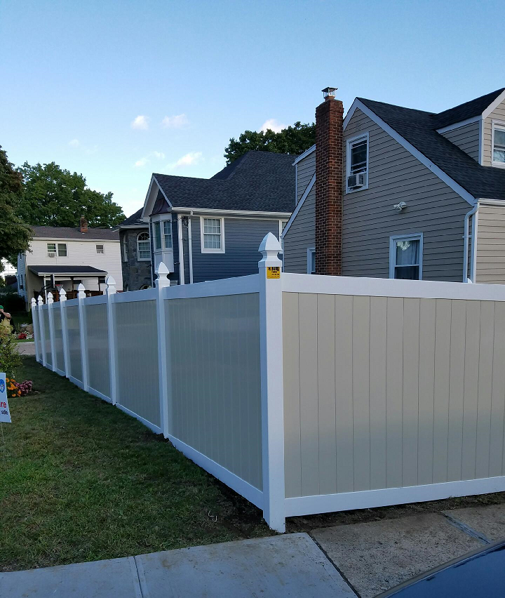 color vinyl fences westchester NY