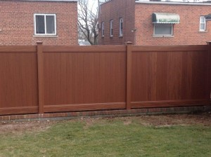 Commercial wood fencing