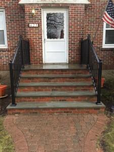 Black aluminum railing fence company