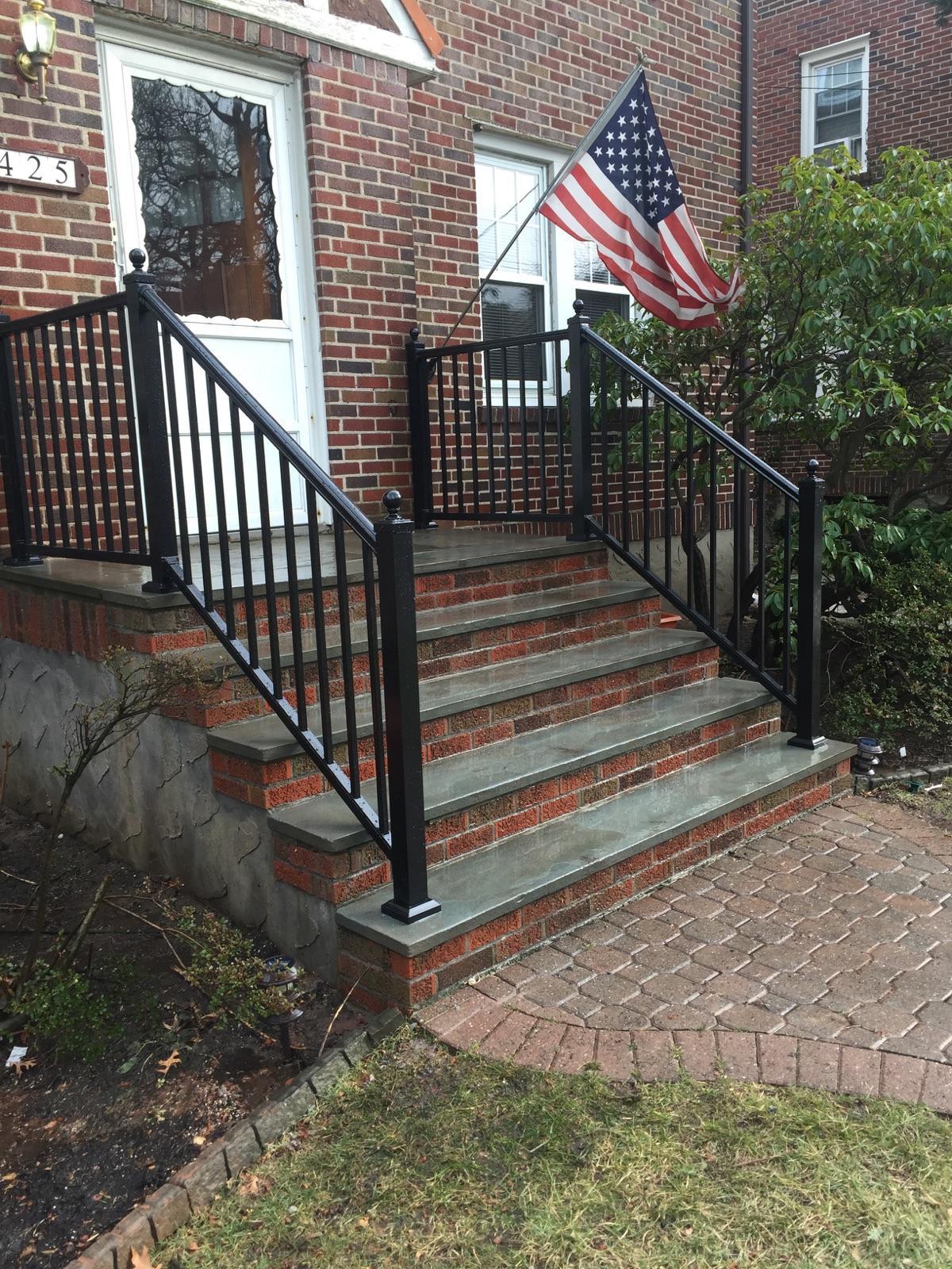 Black-aluminum-railing-mt-vernon-fence-company