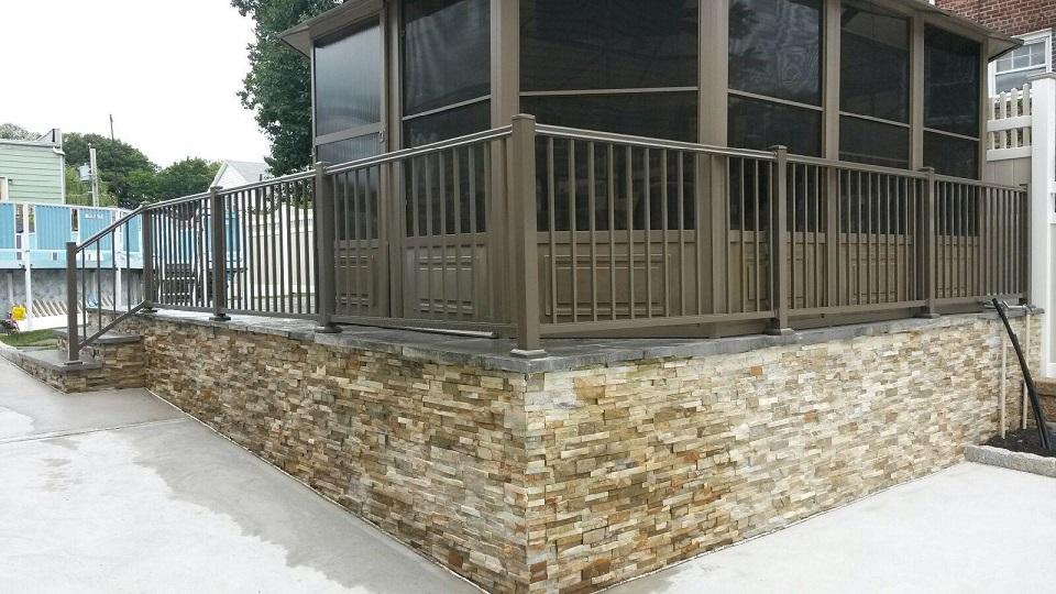 aluminum rail fence