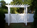 VINYL ARBOR WITH DOUBLE GATES