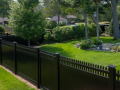 black vinyl fence king fence