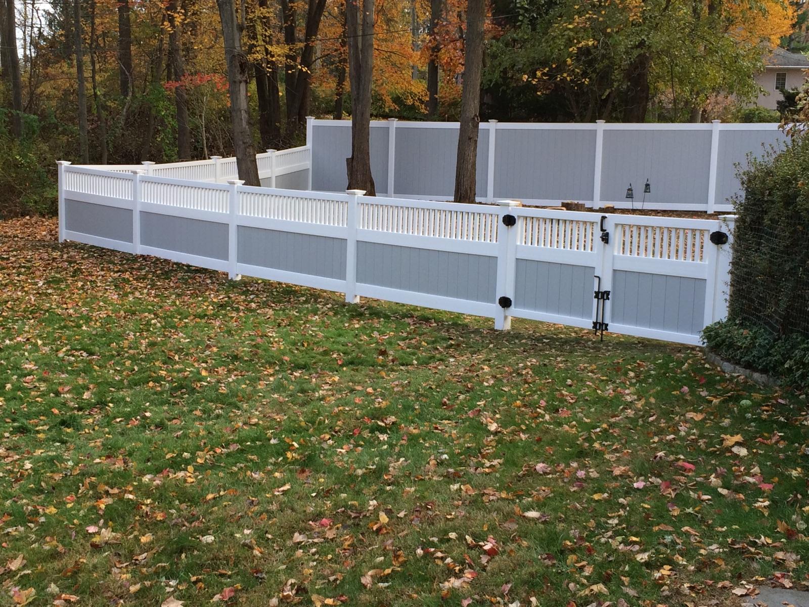 vinyl fence portfolio westchester fence pany 914 337 8700